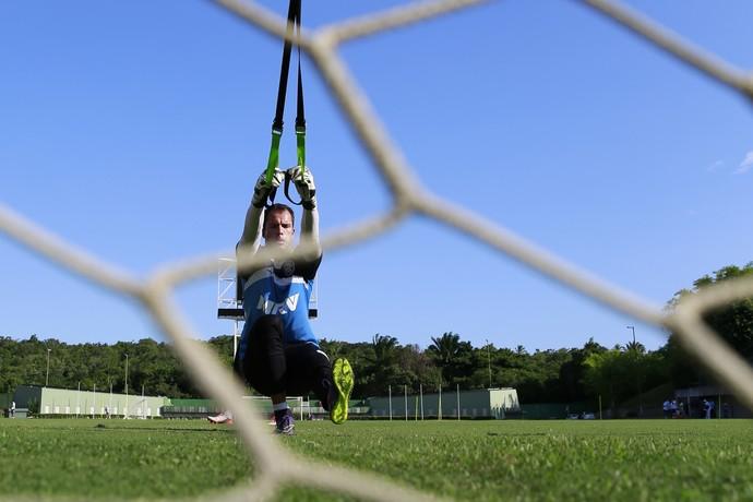 Goleiro segurou a vaga de titular no seu retorno ao Fazendão (Foto: Felipe Oliveira/Divulgação/EC Bahia)
