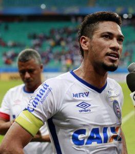 Hernane é o capitão e um dos líderes do Bahia (Foto: Felipe Oliveira/EC Bahia/Divulgação)