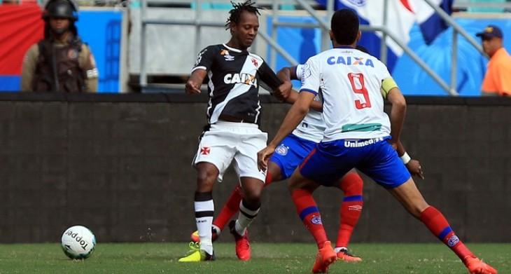 Guto destaca papel de Hernane na marcação (Foto: Felipe Oliveira/Divulgação/EC Bahia)