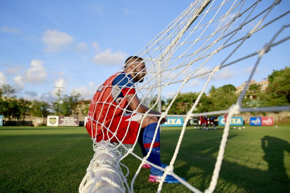 Bahia caiu de rendimento quando não teve Régis em campo (Foto: Felipe Oliveira/Divulgação/EC Bahia)