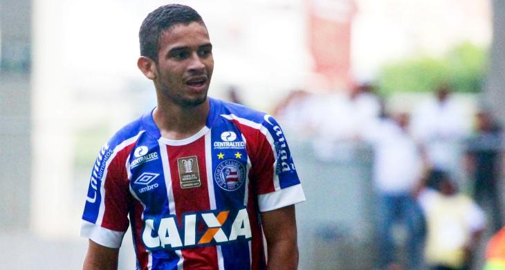 Marco Antônio em campo pelo Bahia na Arena Fonte Nova (Foto: Marcelo Malaquias/Divulgação/EC Bahia)