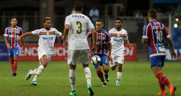 Edigar Junio em jogo do Bahia contra o Sampaio Corrêa (Foto: Felipe Oliveira/Divulgação/EC Bahia)