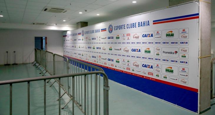 Comunicação visual da Arena Fonte Nova (Foto: Felipe Oliveira/Divulgação/EC Bahia)