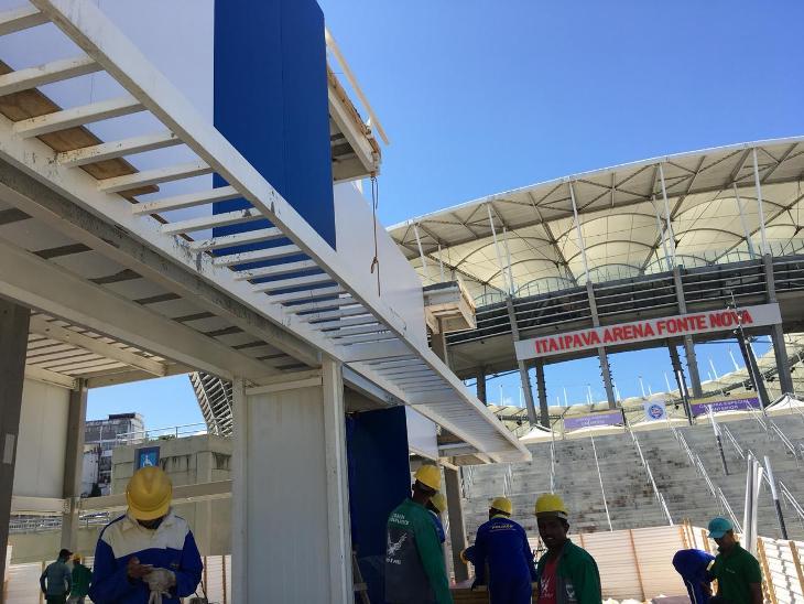 Construção da loja oficial do Bahia (Foto: Divulgação/Bahia)