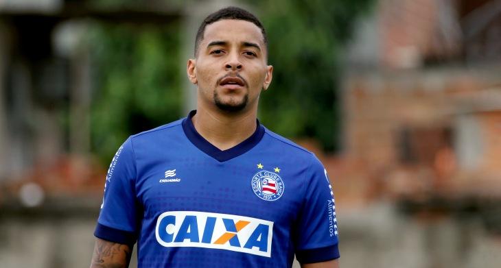 Gregore treina pelo Bahia no Fazendão (Foto: Felipe Oliveira/Divulgação/EC Bahia)