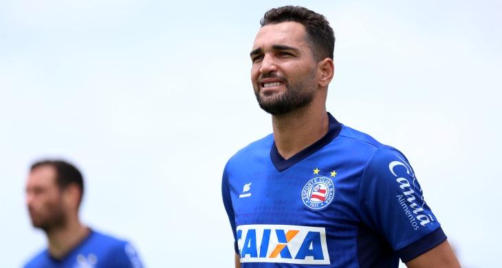 Gilberto treina pelo Bahia no Fazendão (Foto: Felipe Oliveira/Divulgação/EC Bahia)